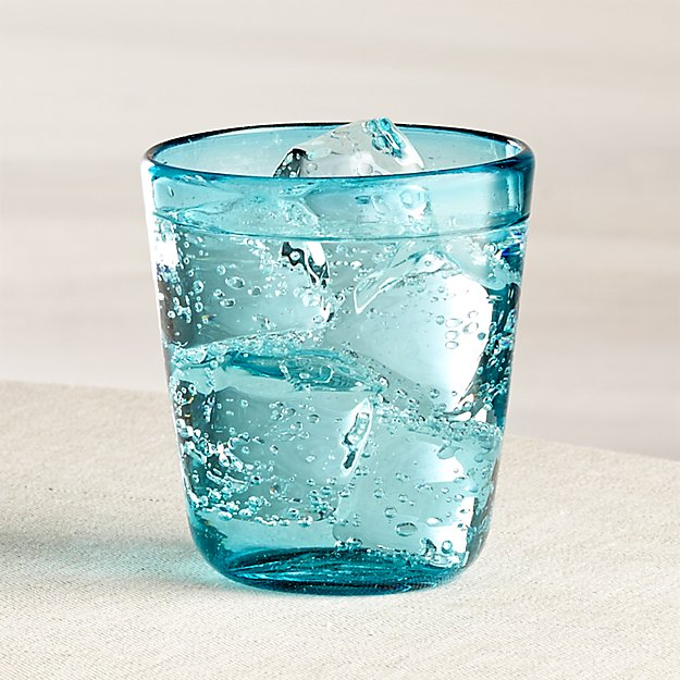 Miguel Blue Double Old-Fashioned Glass