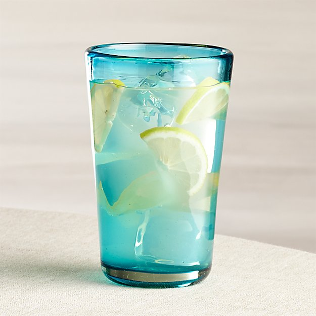 Miguel Blue Highball Glass