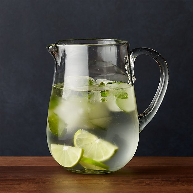 Miguel Recycled Glass Pitcher Reviews Crate And Barrel