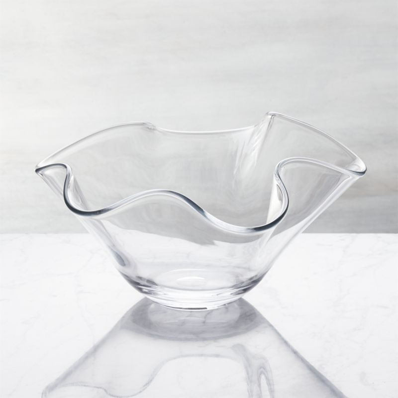clear glass serving bowls crate and barrel