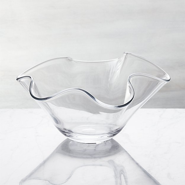 Mila Glass Centerpiece Bowl Reviews Crate And Barrel