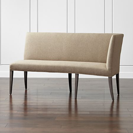 Superb Miles Right Facing Return Banquette Bench Crate And Barrel Machost Co Dining Chair Design Ideas Machostcouk