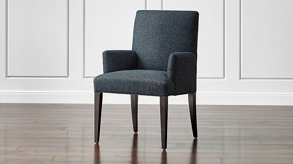 Miles Upholstered Dining Arm Chair + Reviews | Crate and ...