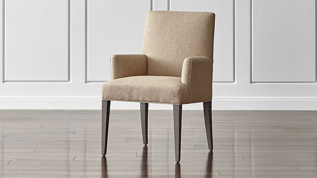 Upholstered Dining Arm Chair Reviews Crate And Barrel
