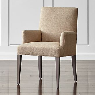 dining chairs with arms Dining Chairs with Arms | Crate and Barrel dining chairs with arms