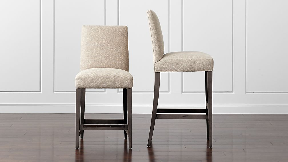 Miles Upholstered Bar Stools Crate And Barrel