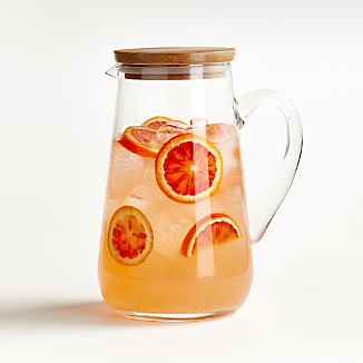 Miles 89-Ounce Pitcher with Wood Lid
