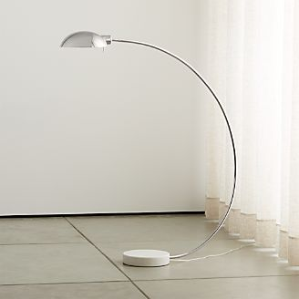 Miles Polished Nickel Arc Lamp