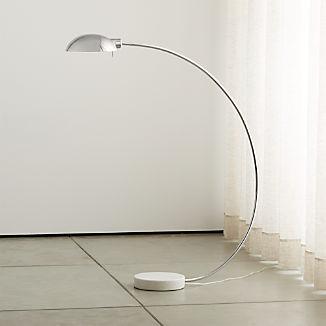 Miles Polished Nickel Arc Lamp