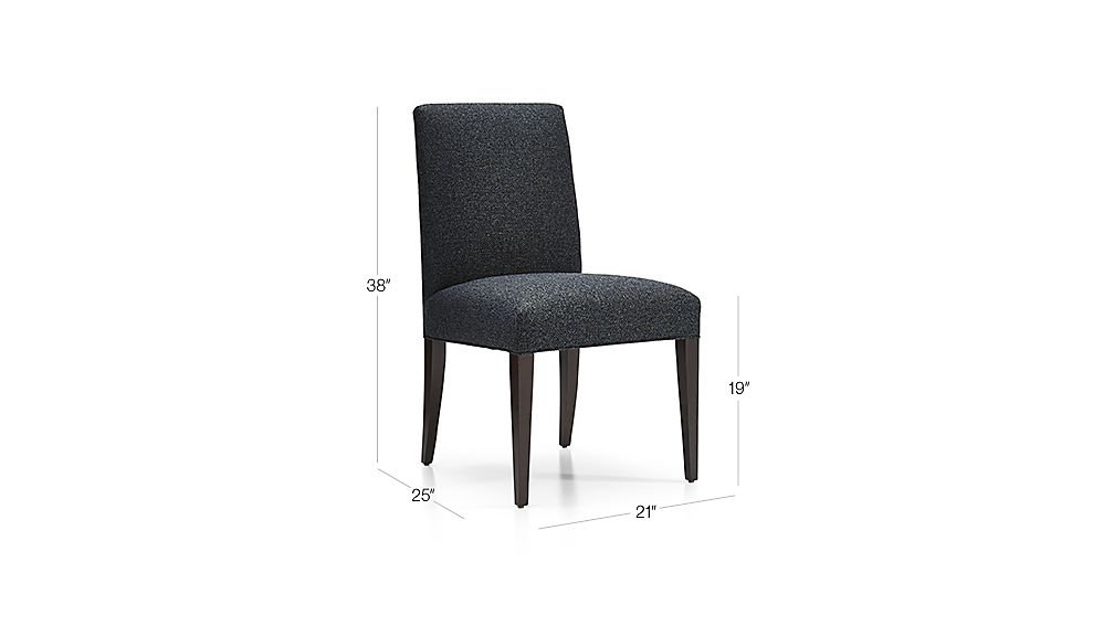 Attractive TAP TO ZOOM Image With Dimension For Miles Upholstered Dining Chair Images