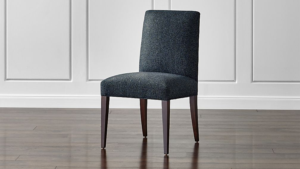 Miles upholstered dining chair reviews crate and barrel for Printed upholstered dining chairs