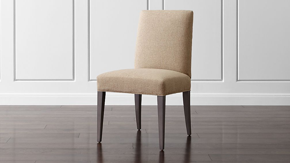 Miles Natural Upholstered Dining Chair Reviews Crate And Barrel