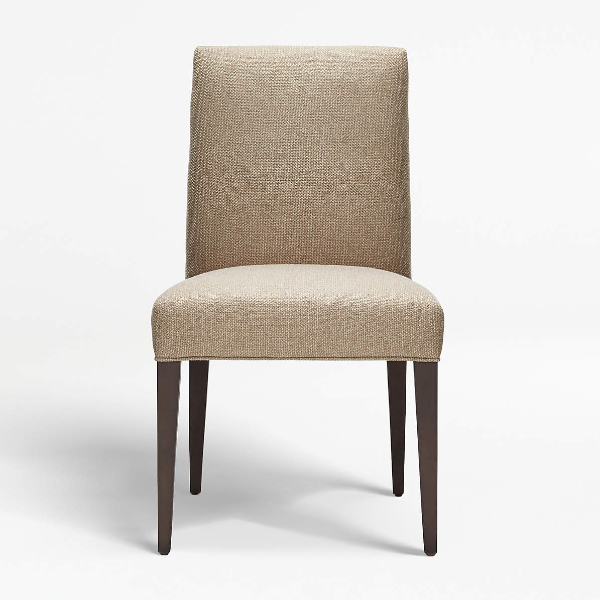 Miles Natural Upholstered Dining Chair + Reviews  Crate and Barrel