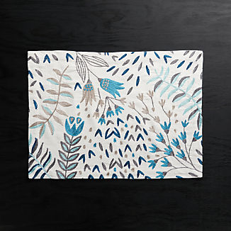 1eb14a811c868c Milla Blue Embroidered Placemat