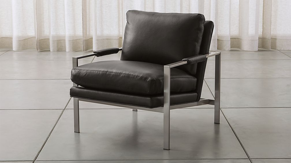 Milo Baughman ® Leather Chair - Image 1 of 8
