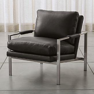Milo Baughman ® Leather Chair