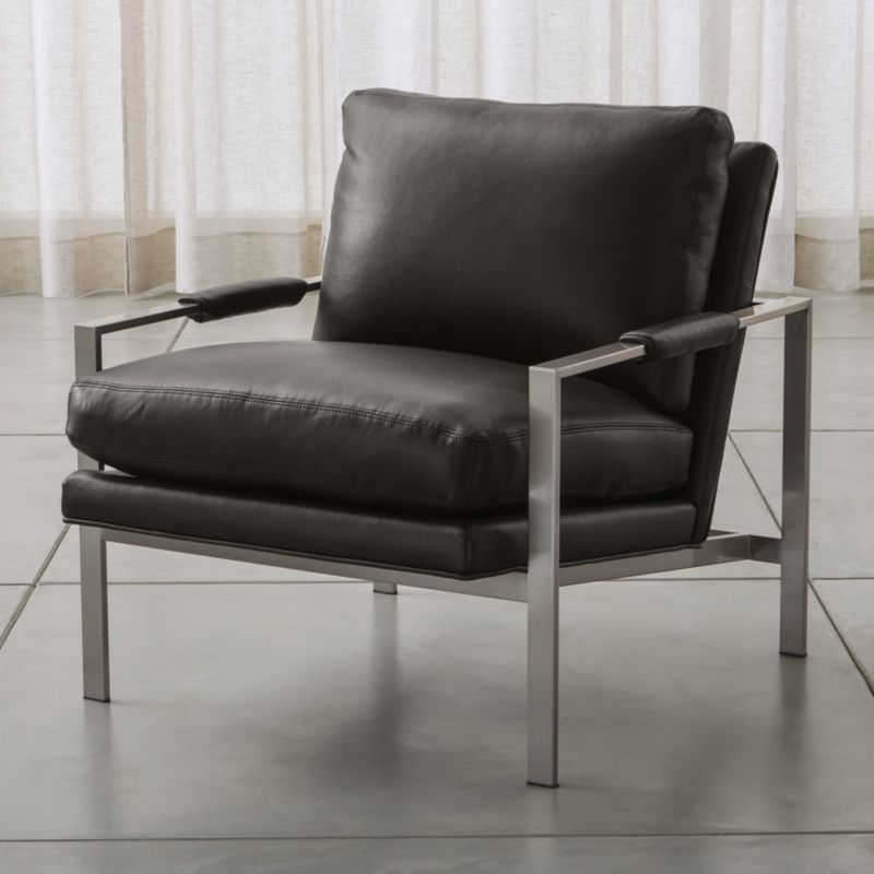Milo Leather Chair Crate And Barrel