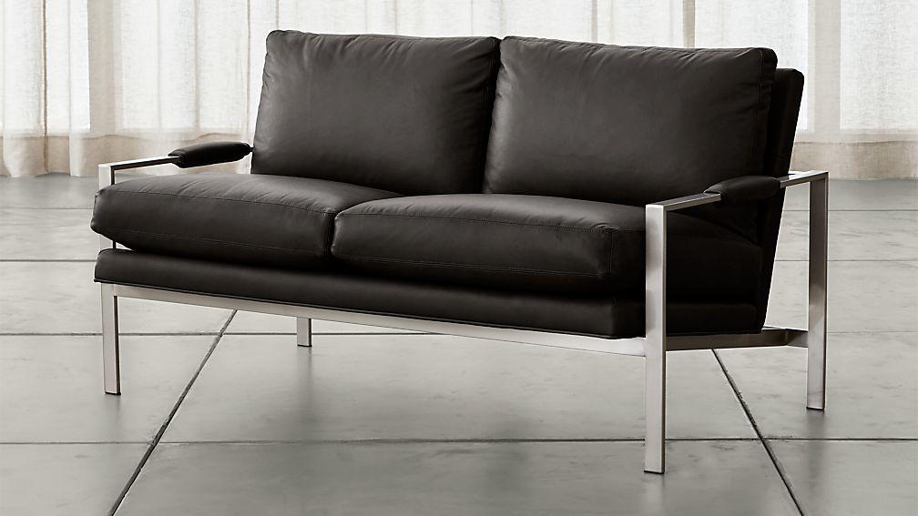 Milo Baughman ® Leather Settee - Image 1 of 5