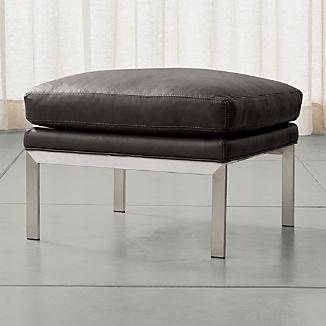Milo Leather Ottoman