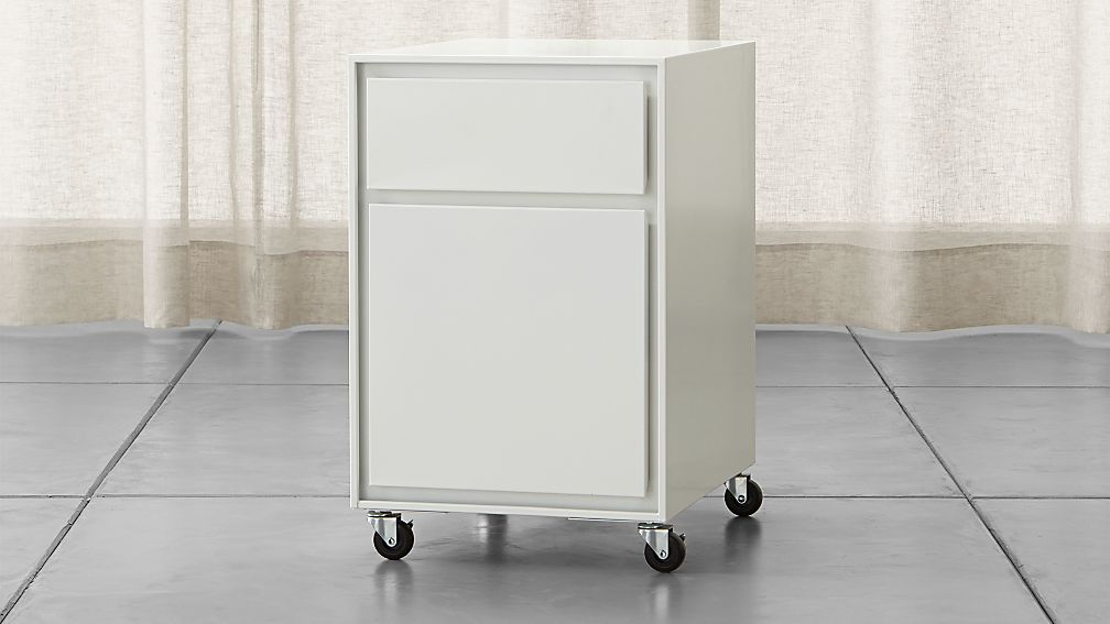 Pilsen White Two Drawer File Cabinet Reviews Crate And