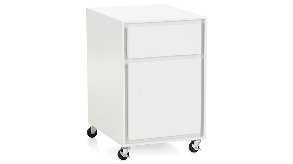 Pilsen White Two Drawer File Cabinet Crate And Barrel