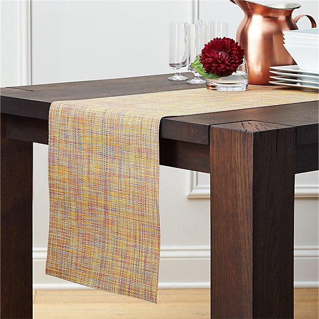 Chilewich ® Mini Basketweave Confetti Vinyl Table Runner