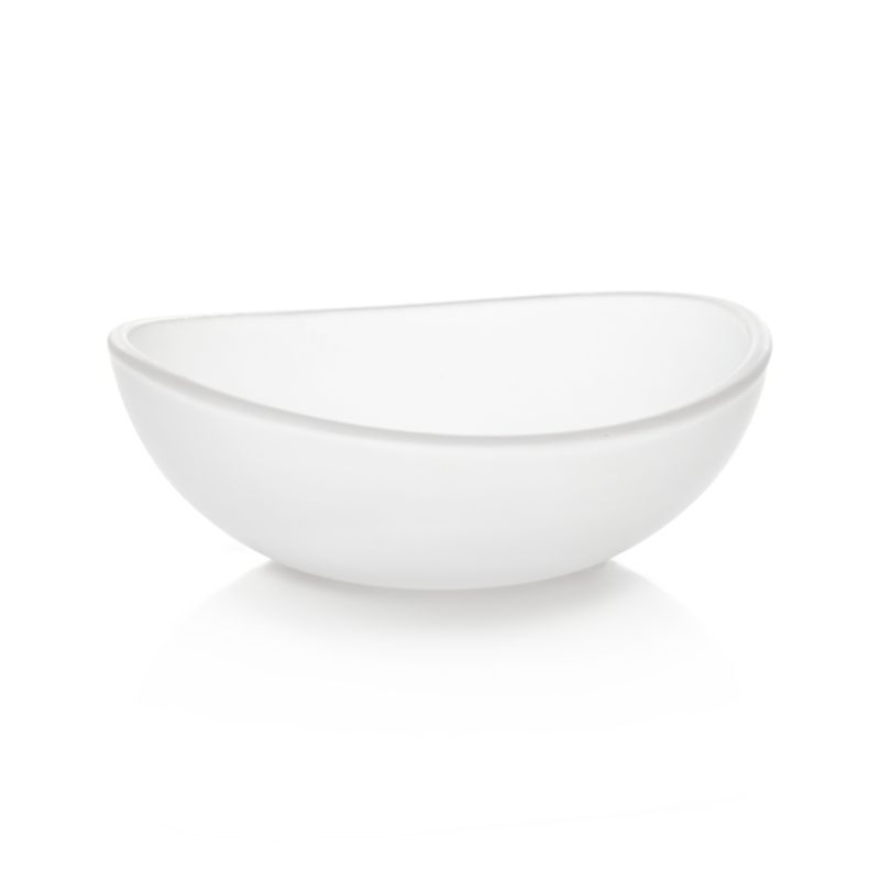 Mini bowls designed to suit your meal, décor or mood. Aaron Probyn's suite of nine small-sized bowls yields big results, offering your choice of size, shape and material for serving sauces, spices and condiments. Great for kitchen prep, too. Glass bowl assumes a graceful curved oval.<br /><br /><NEWTAG/><ul><li>Designed by Aaron Probyn</li><li>100% soda lime glass</li><li>Dishwasher-safe</li><li>Do not microwave or heat in oven</li><li>Made in China</li></ul>