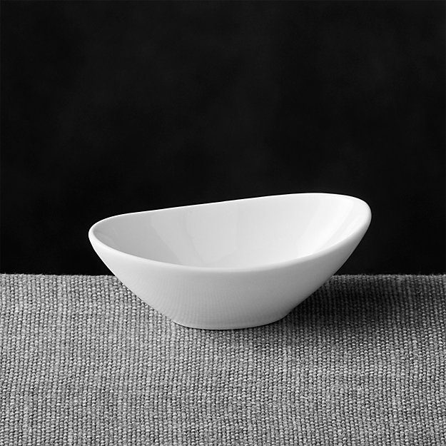 Mini Oval Sauce Dish + Reviews | Crate and Barrel