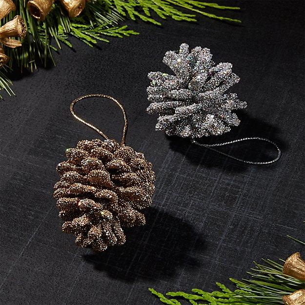 minipineconegroupfhf17 - Pine Cone Ornaments
