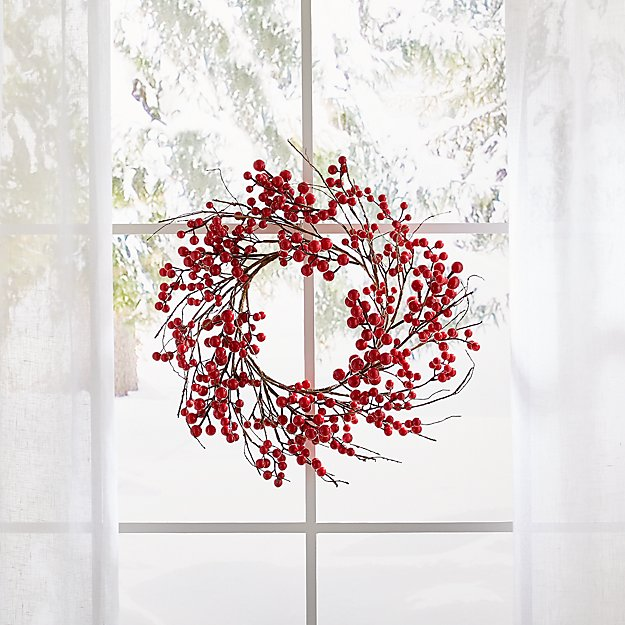 Mini Red Berry Wreath - Image 1 of 5