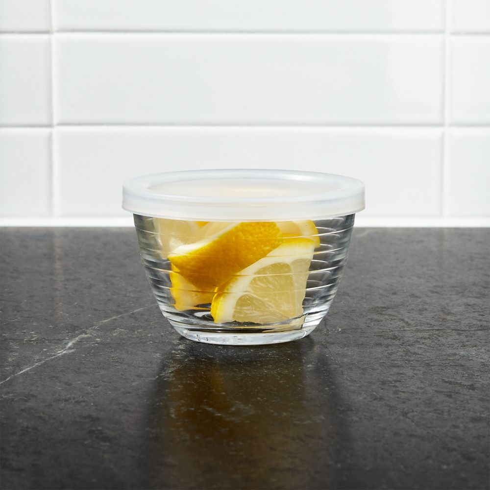 Mini Ribbed Bowl with Lid - Crate and Barrel
