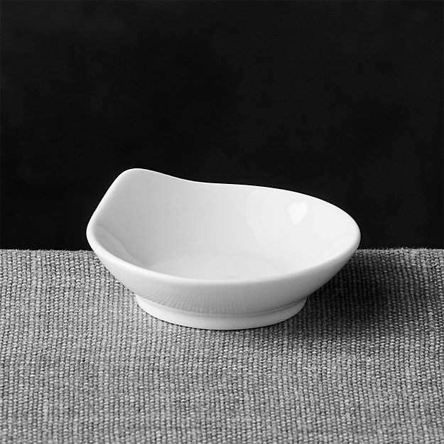 Porcelain Mini Round Grip Dish Reviews Crate And Barrel