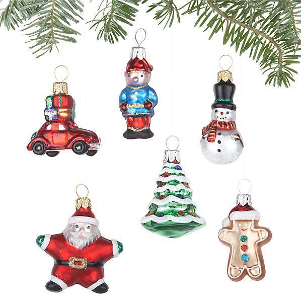 Set of 6 Mini Shapes Ornaments