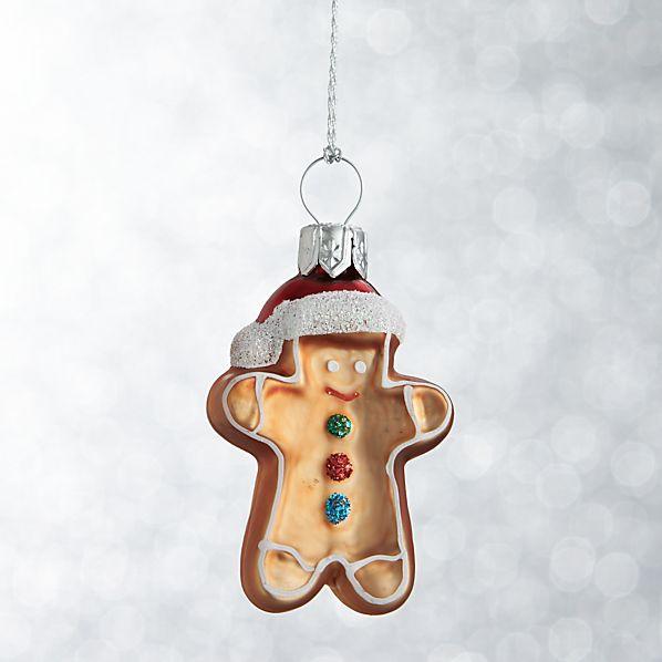 Mini Shapes Gingerbread Man Ornament
