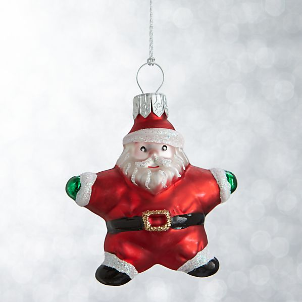 Mini Shapes Santa Ornament