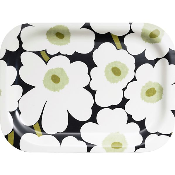 Marimekko Mini Unikko White and Black Tray