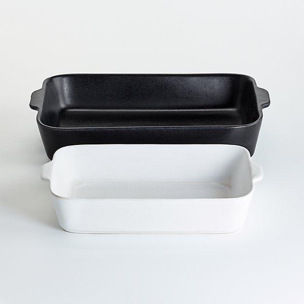 Mira Black and White Baking Dishes, Set of 2 - Image 1 of 3