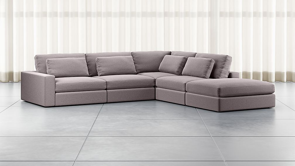 Mirabel Pewter 5-Piece Left Arm Sectional Sofa - Image 1 of 3