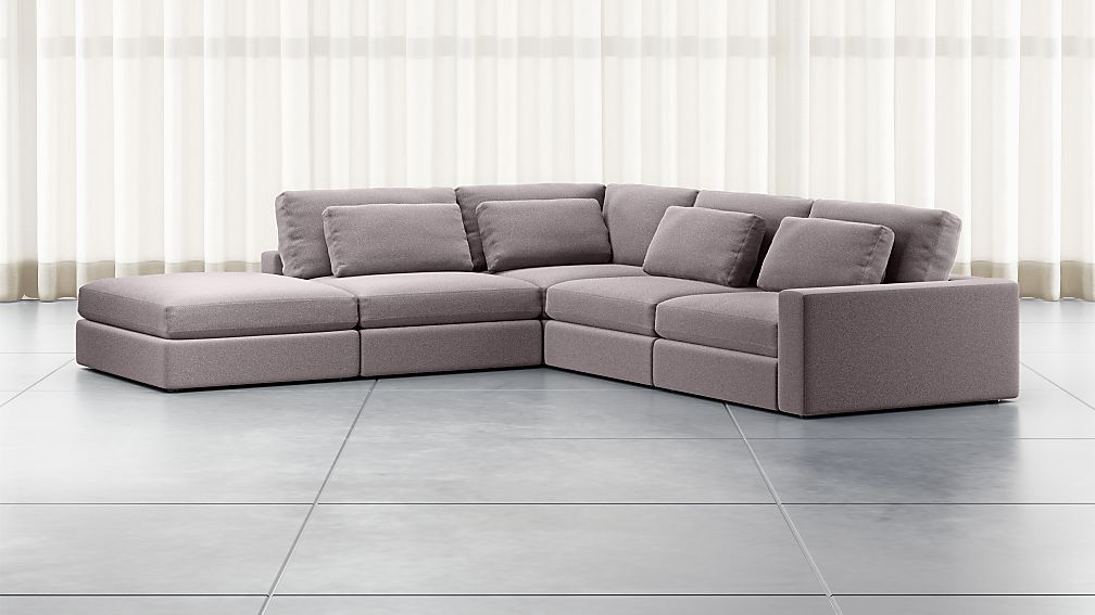 Mirabel Pewter 5-Piece Right Arm Sectional Sofa - Image 1 of 3