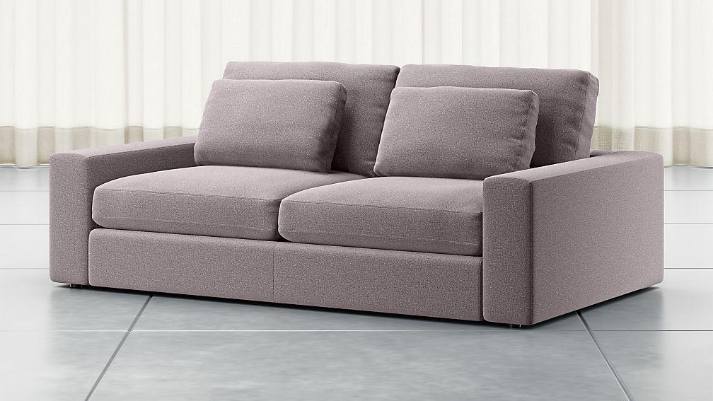 """Mirabel 82"""" Pewter Square Arm Sofa - Image 1 of 5"""