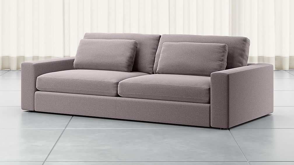 "Mirabel 98"" Pewter Square Arm Sofa - Image 1 of 5"