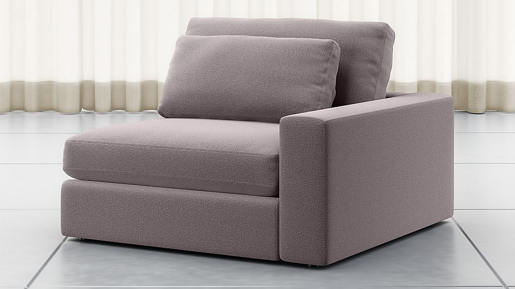 Mirabel Pewter Right Arm Sectional Chair - Image 1 of 5
