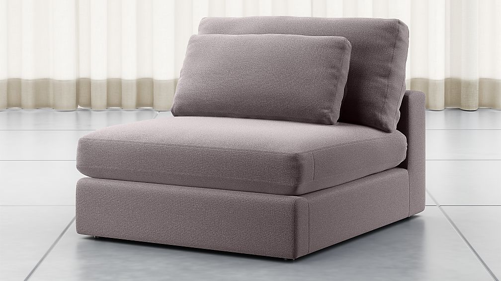 Mirabel Pewter Sectional Armless Chair - Image 1 of 5