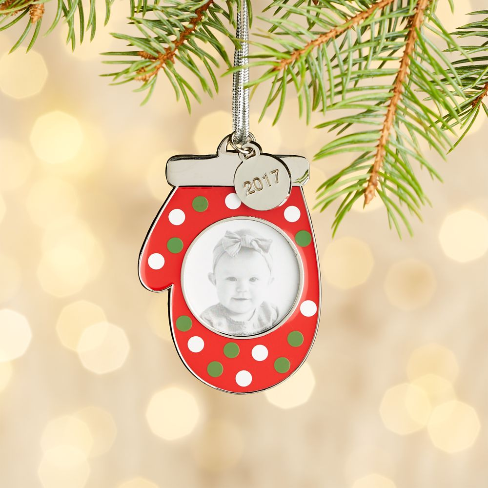 Mitten Frame with 2017 Charm Ornament