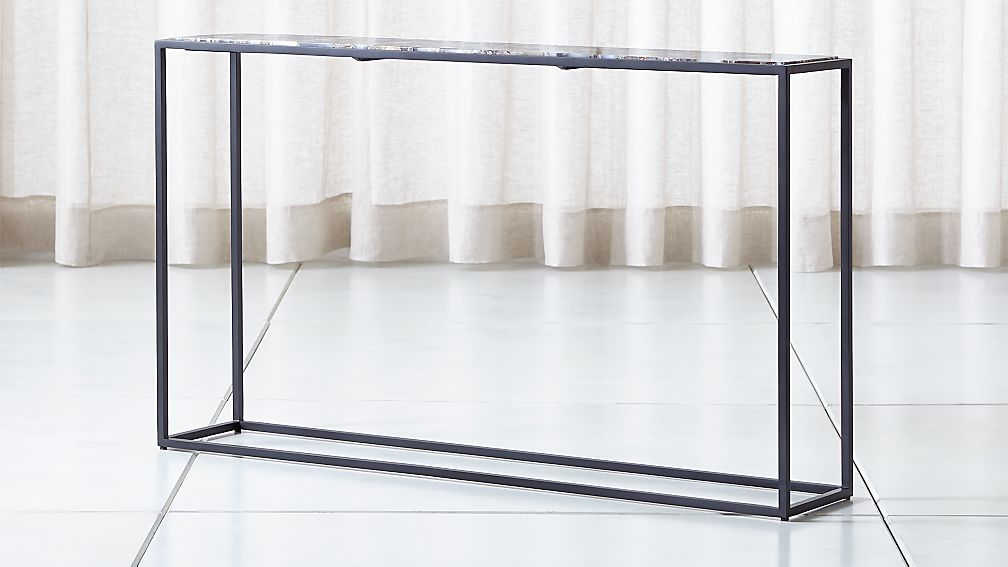 Mix Agate Metal Frame Console Table + Reviews | Crate and Barrel