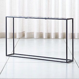 Mix Agate Metal Frame Console Table