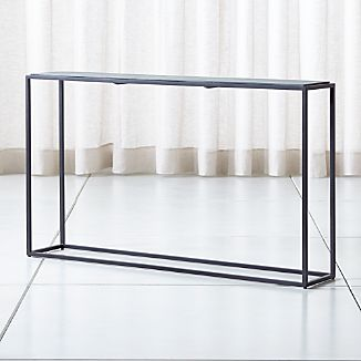 Mix Patina Metal Frame Console Table