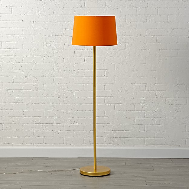 Mix and match orange floor lamp shade reviews crate and barrel aloadofball Choice Image