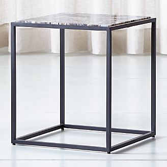 Mix Agate Tall Metal Frame Side Table