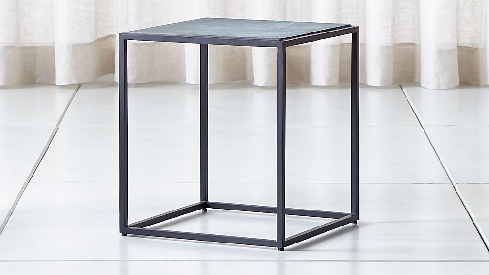 Mix Patina Tall Metal Frame Side Table - Image 1 of 7